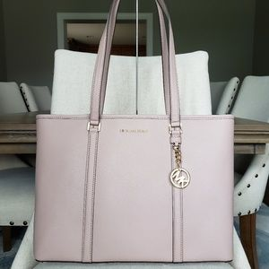 NWT Michael Kors LG Sady Tote Bag Fawn dusty pink